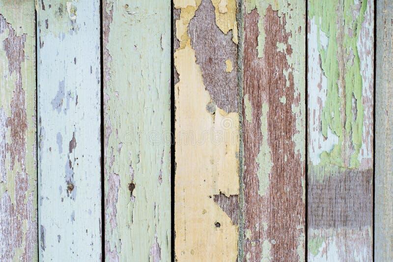 Färgrikt av wood målarfärg fotografering för bildbyråer