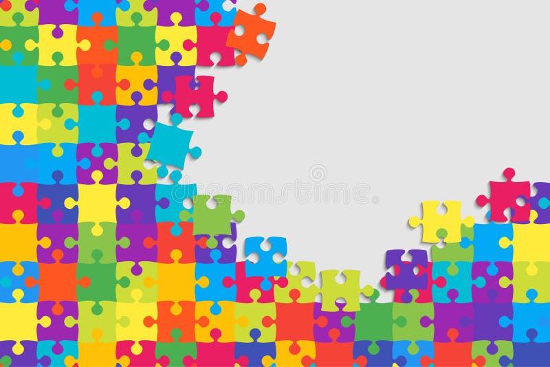 Färgrikt bakgrundspussel Pusselbaner vektor illustrationer