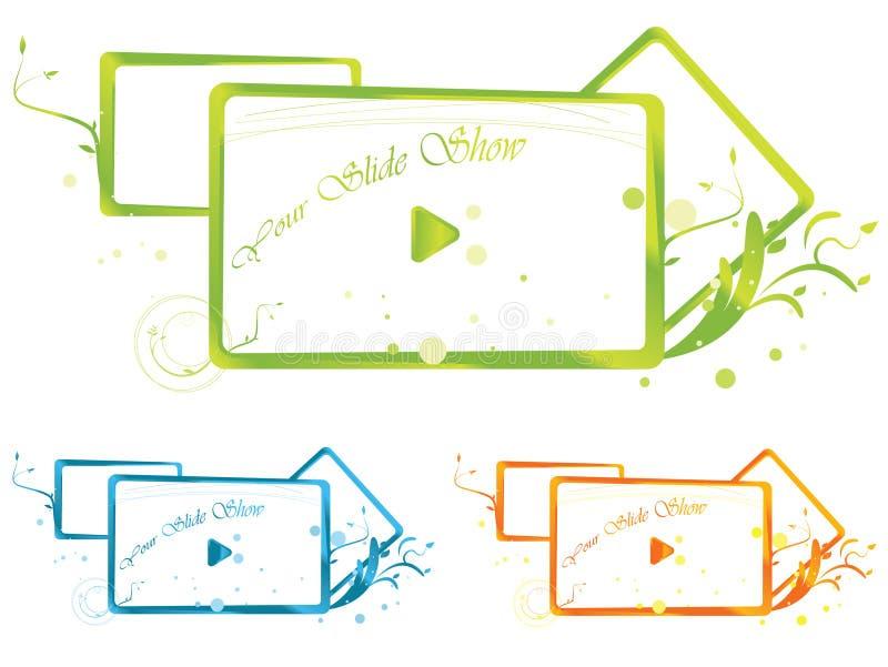 färgrikt baner stock illustrationer