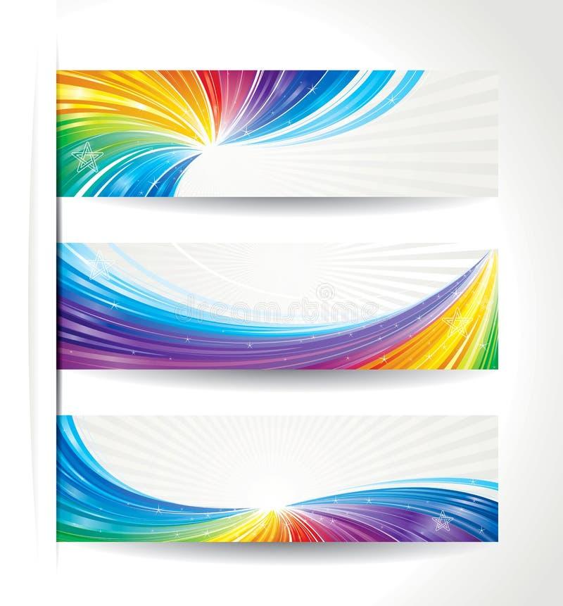 Färgrikt baner royaltyfri illustrationer