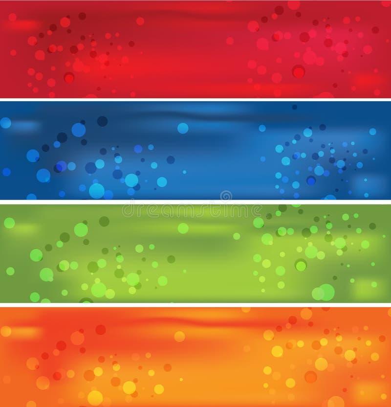 färgrikt baner 4 royaltyfri illustrationer