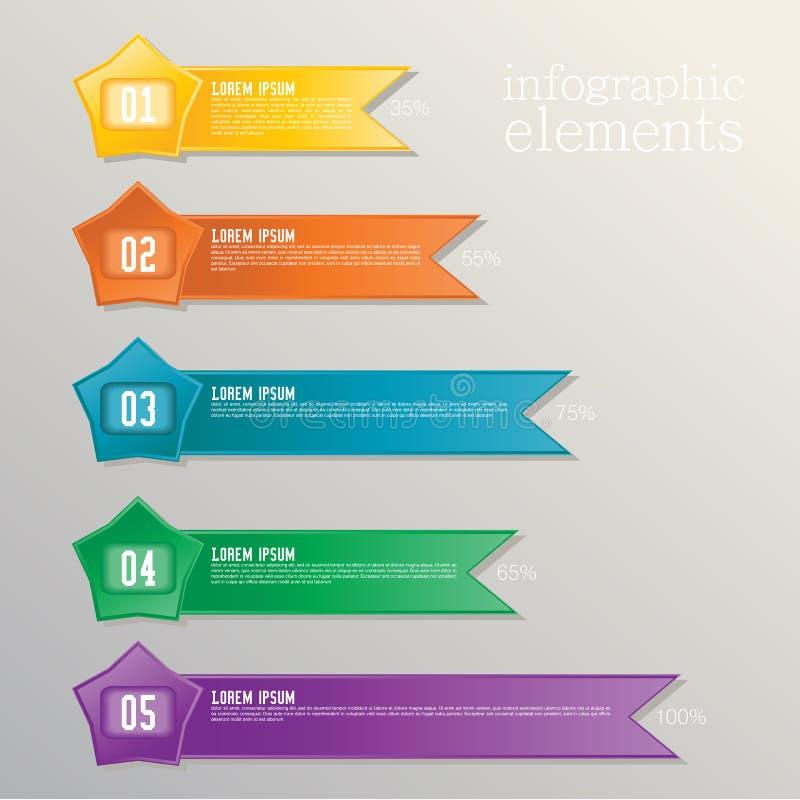 Färgrikt banerband. Beståndsdel för infographic stock illustrationer