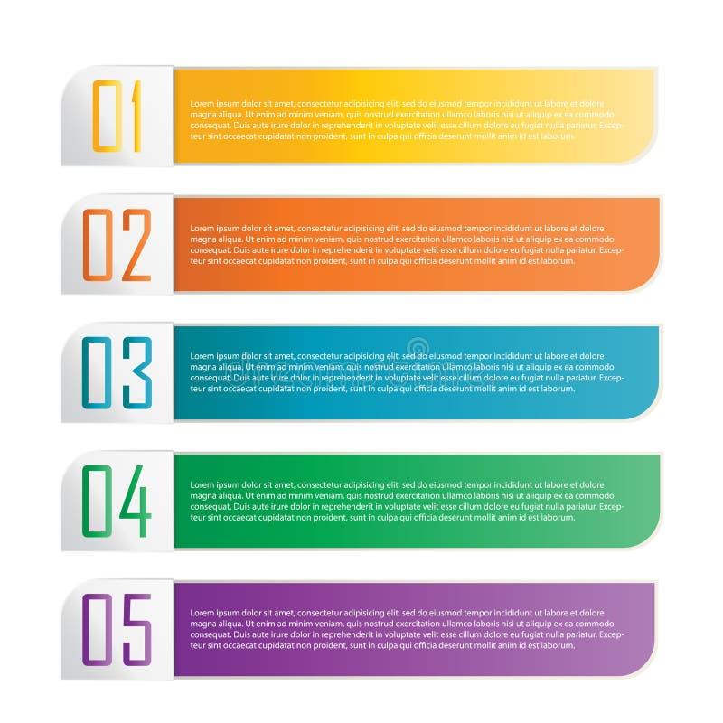 Färgrikt banerband. Beståndsdel för infographic vektor illustrationer