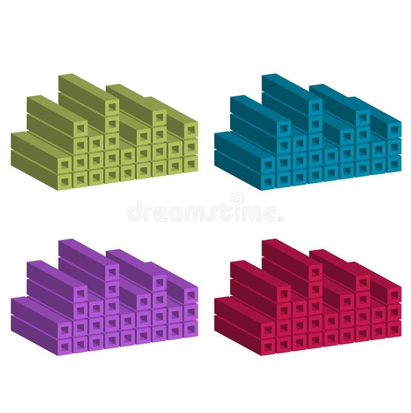 färgrikt blockbyggande royaltyfri illustrationer