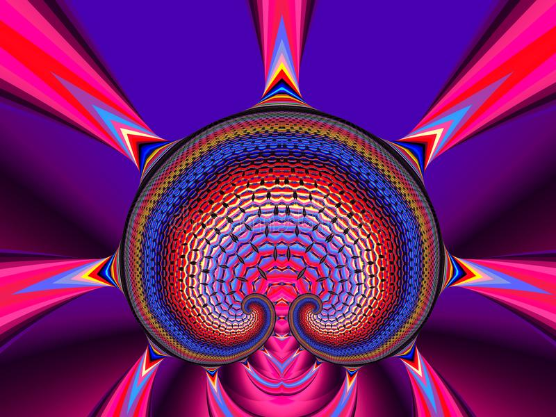 Färgrikt champinjonträd vektor illustrationer