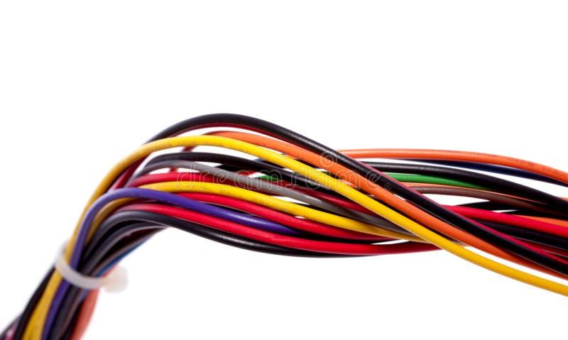 färgrikt datornät för kabel arkivfoto