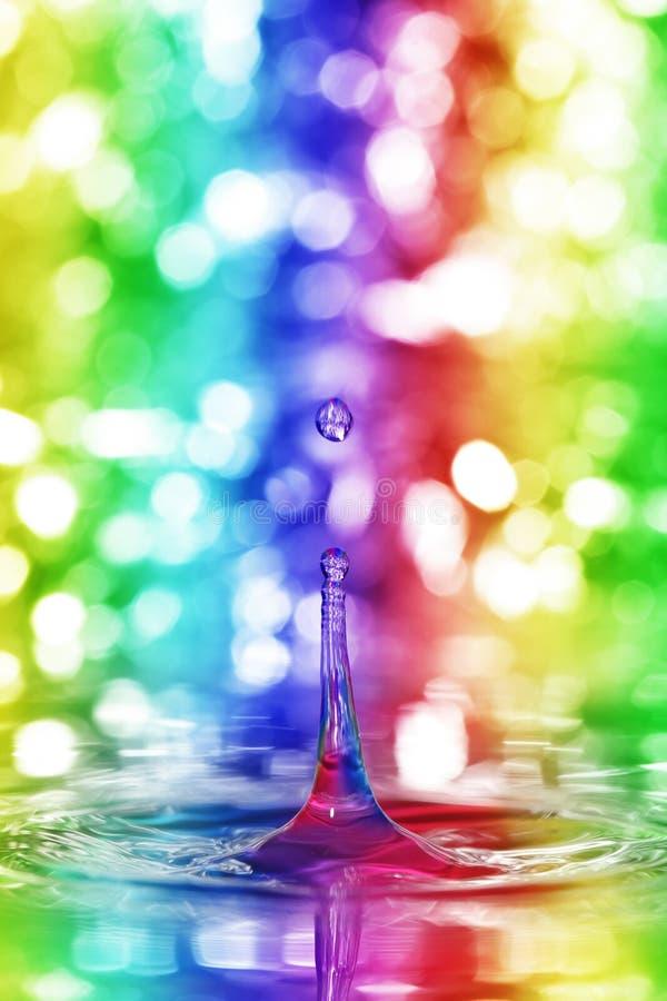 färgrikt droppvatten royaltyfri fotografi