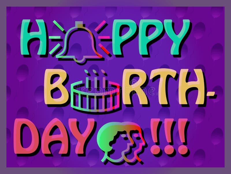 färgrikt födelsedagkort royaltyfria foton