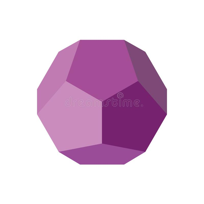 Färgrikt geometriskt diagram vektorillustration: Dodecahedron vektor illustrationer