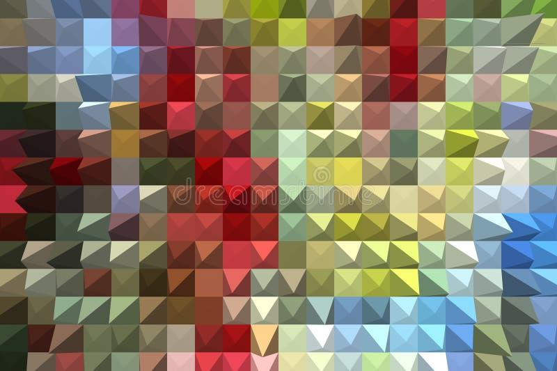 färgrikt geometriskt för abstrakt bakgrund royaltyfri bild