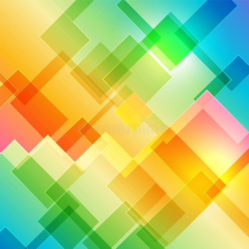 färgrikt geometriskt för bakgrund vektor illustrationer