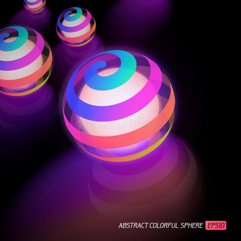 färgrikt glöda för boll vektor illustrationer