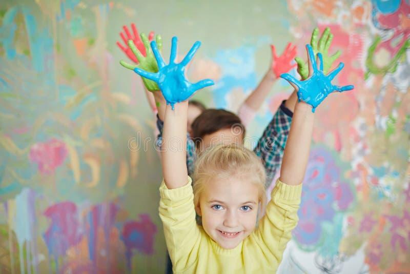 färgrikt gyckel fotografering för bildbyråer