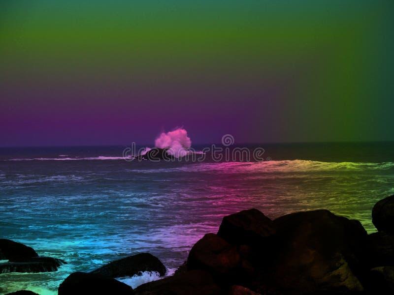 färgrikt hav arkivfoton