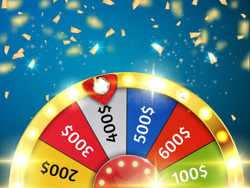 Färgrikt hjul av infographic lycka eller förmögenhet vektor royaltyfri illustrationer
