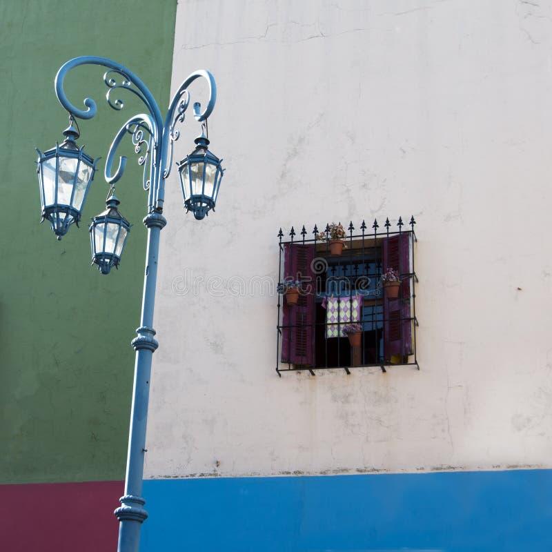 färgrikt hus för caminito royaltyfri fotografi