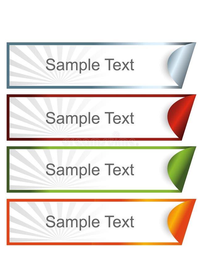 färgrikt klibbigt för baner vektor illustrationer