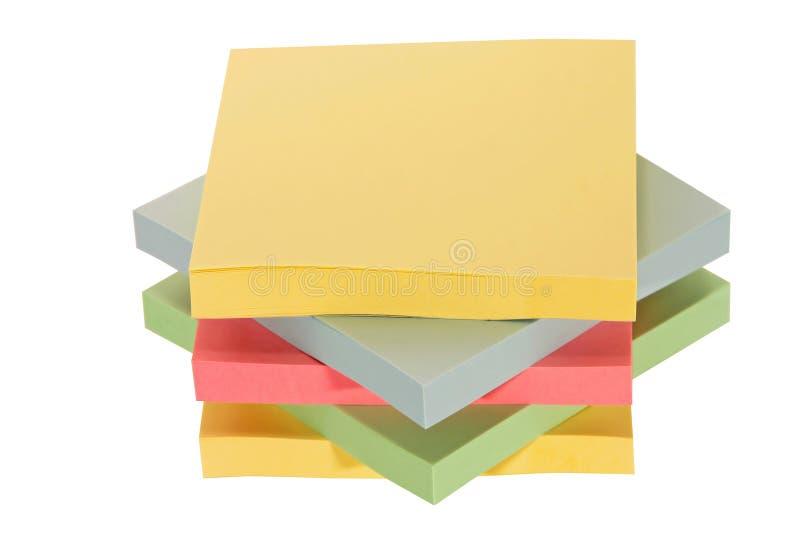 färgrikt kontorspapper royaltyfri fotografi