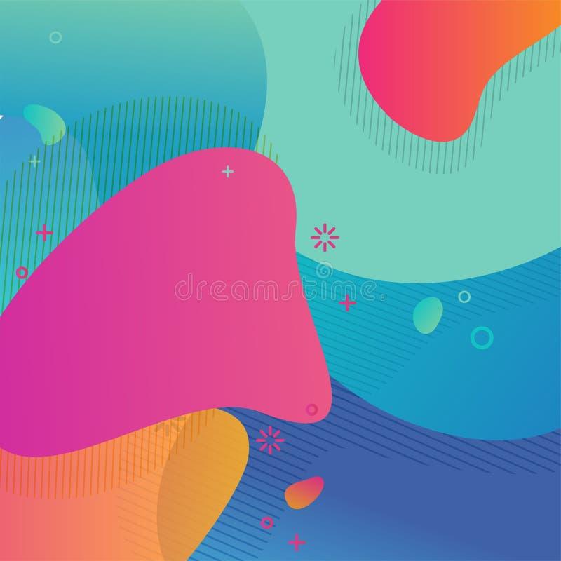 Färgrikt kryddat abstrakt geometriskt Retro för bakgrund vektor illustrationer