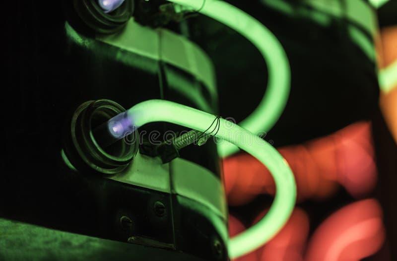 färgrikt lampaneon arkivfoto