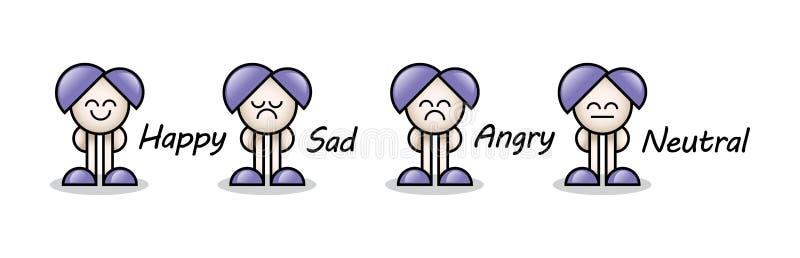 färgrikt litet folk 3d stock illustrationer