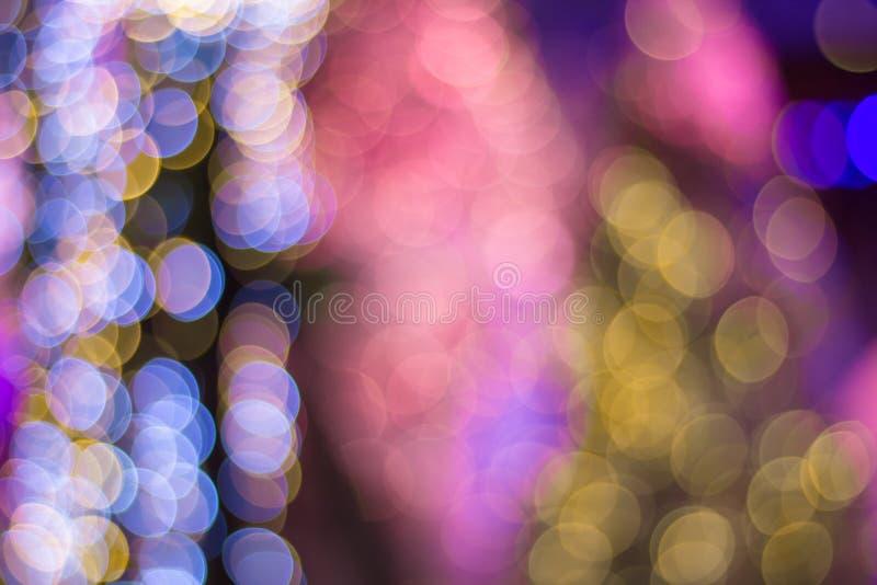 Färgrikt lyckligt nytt år christ för Defocused suddig abstrakt cirkel arkivfoton