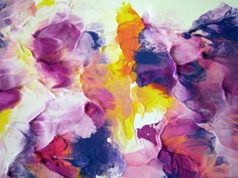 Färgrikt målat abstrakt begrepp fotografering för bildbyråer