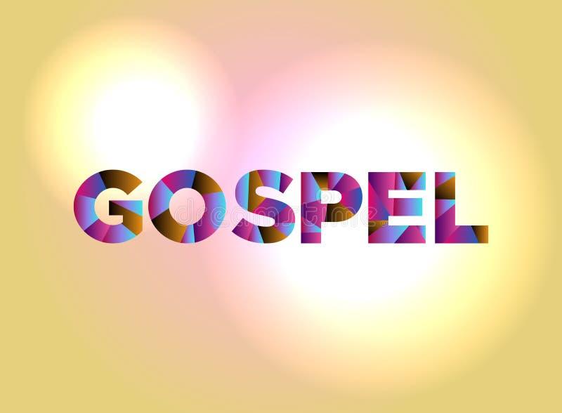 Färgrikt ord Art Illustration för evangeliumbegrepp royaltyfri illustrationer