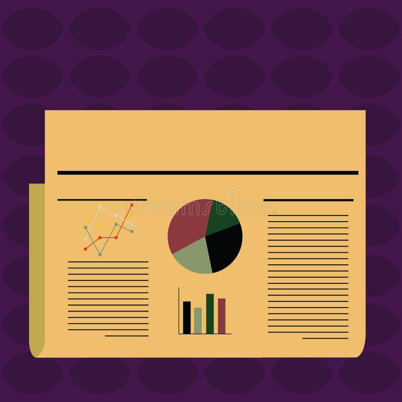 Färgrikt orienteringsdesignplan av för linjär och pajdiagram för text diagrammet för linjer, för stång, för informationsblad för  vektor illustrationer