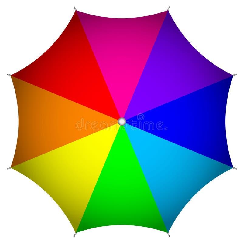 Färgrikt paraply stock illustrationer