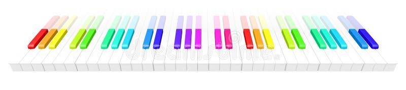 färgrikt piano arkivfoto