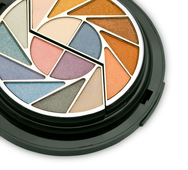 färgrikt skönhetsmedelsatssmink royaltyfri fotografi