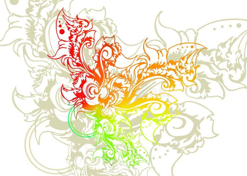 Färgrikt snida stock illustrationer