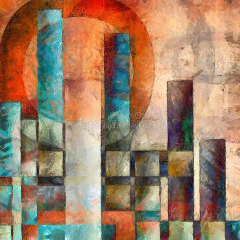 Färgrikt stadsabstrakt begrepp arkivfoton
