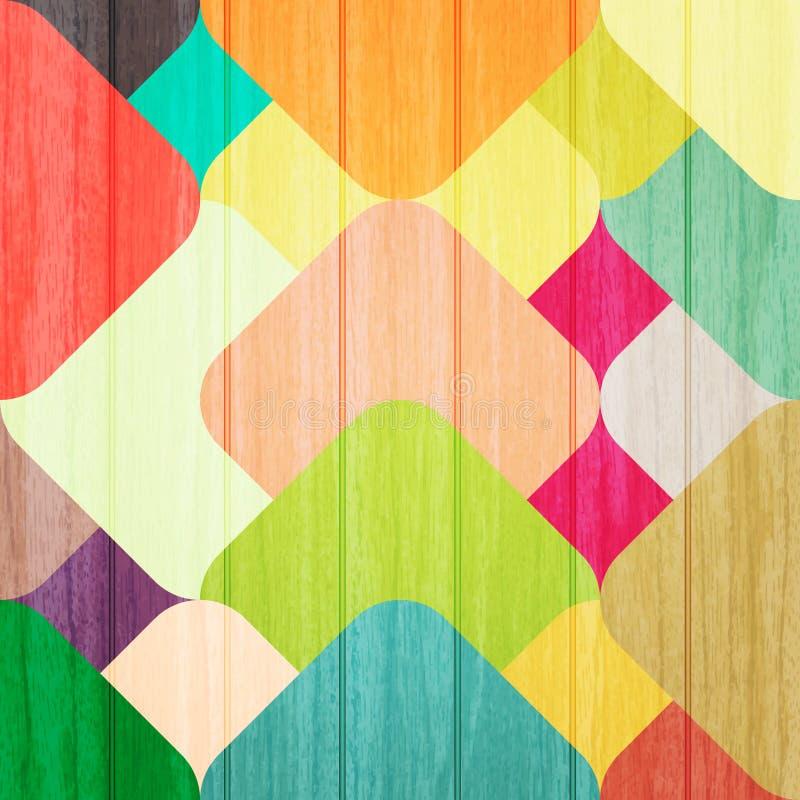 Färgrikt staket vektor illustrationer