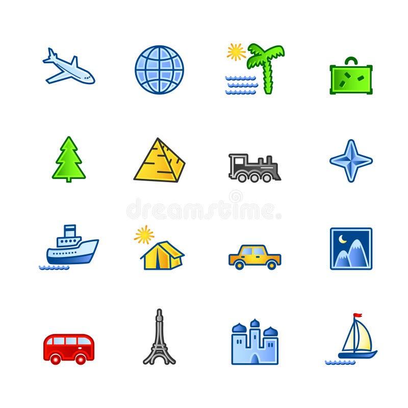 färgrikt symbolslopp stock illustrationer