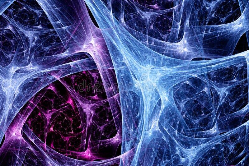 Färgrikt synapsesystem stock illustrationer