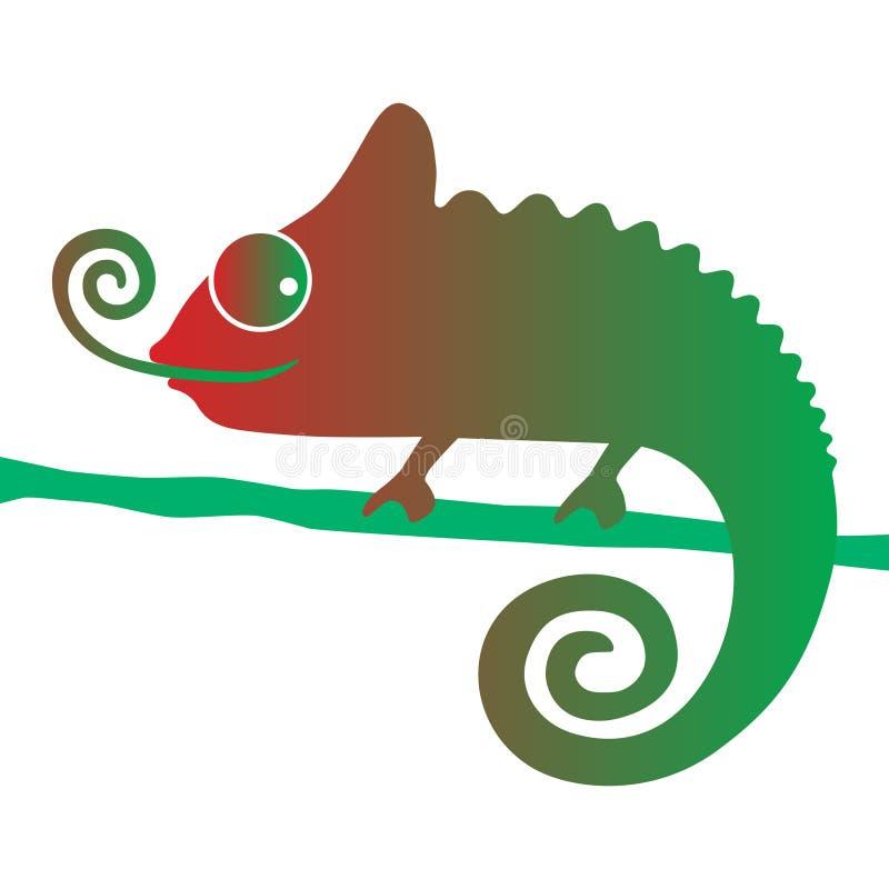 Färgrikt tecken för kameleont vektor illustrationer