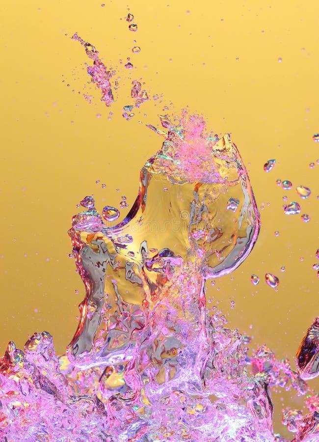 färgrikt vatten för luftbubblor arkivfoton