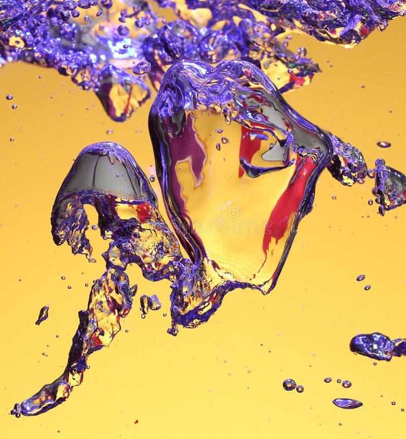 färgrikt vatten för luftbubblor fotografering för bildbyråer
