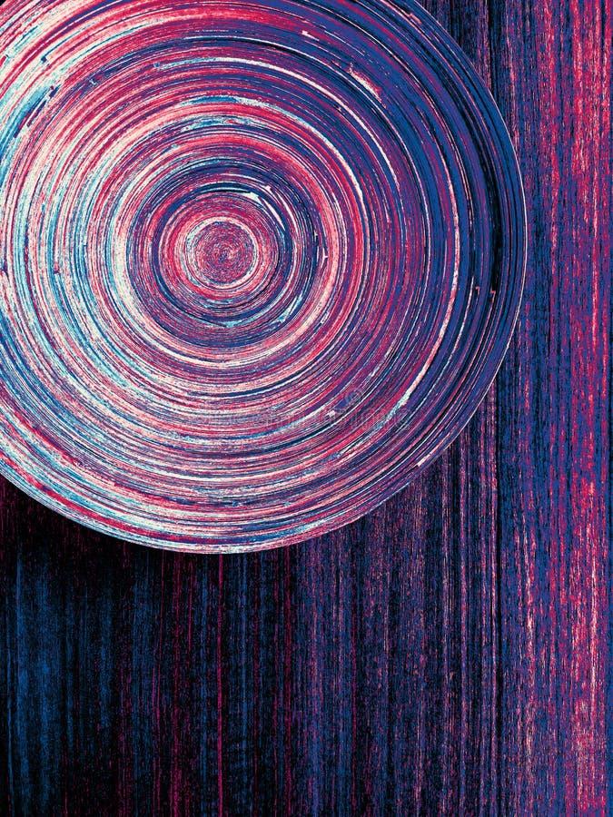 Färgrikt virvelcirkelabstrakt begrepp royaltyfria foton