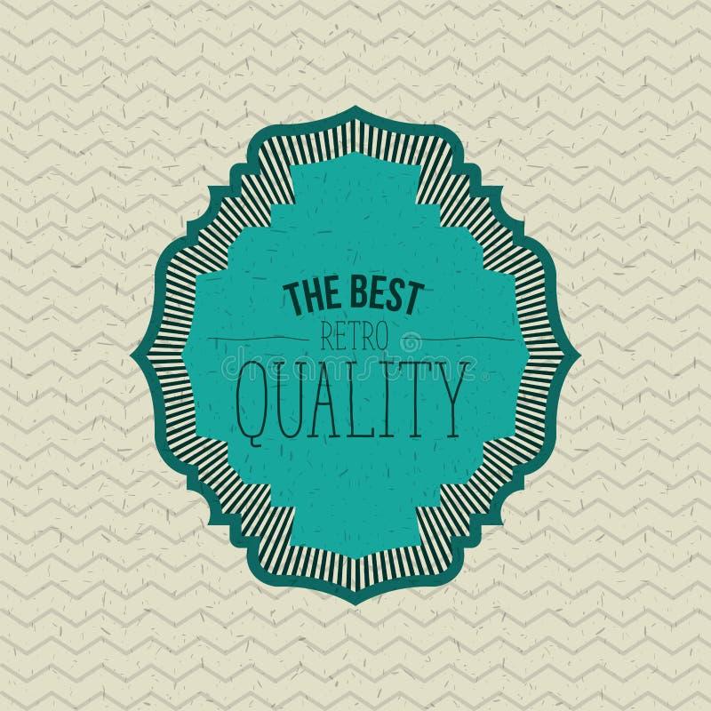 Färgsicksacken fodrar bakgrund med den blåa dekorativa gränsen den bästa retro kvalitets- texten royaltyfri illustrationer