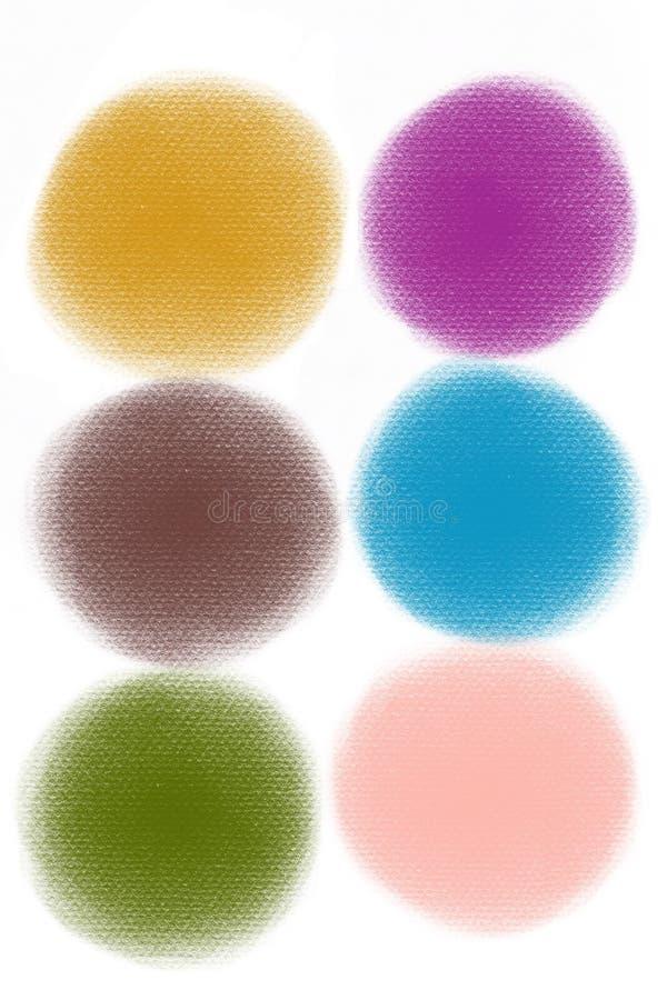 Färgslaglängder, målarfärgfläckar De isolerade mång--färgade fläckarna - en illustration royaltyfria foton