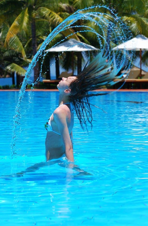 Download Färgstänk arkivfoto. Bild av simning, droppe, hotell, pöl - 3536562