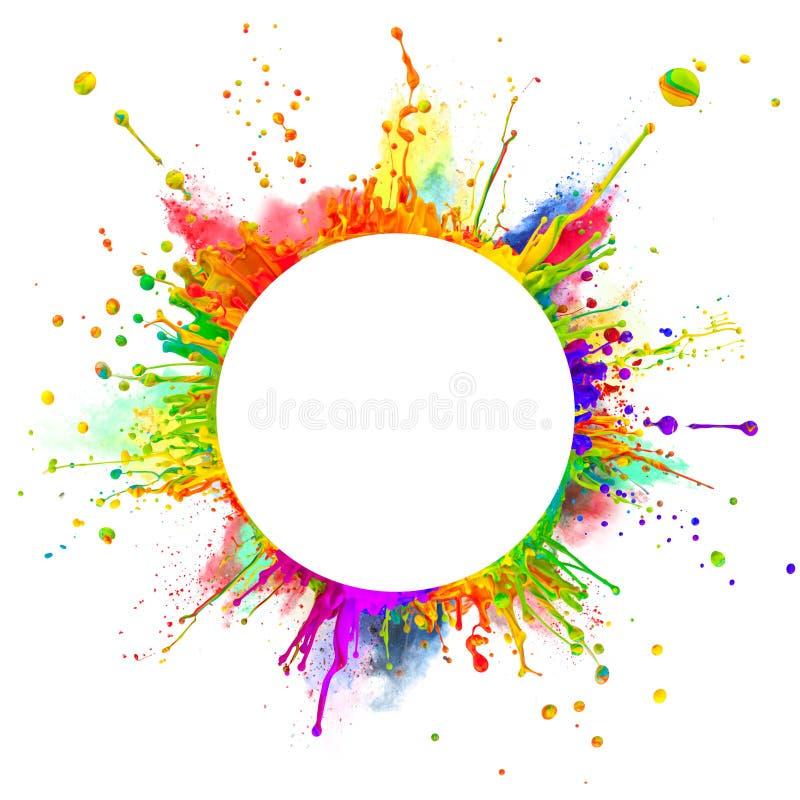 färgstänk vektor illustrationer