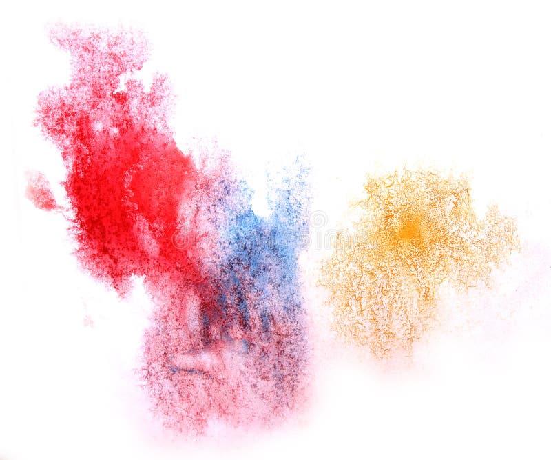 Färgstänk för akvarell för klick för målarfärg för konstvattenfärgfärgpulver royaltyfria bilder