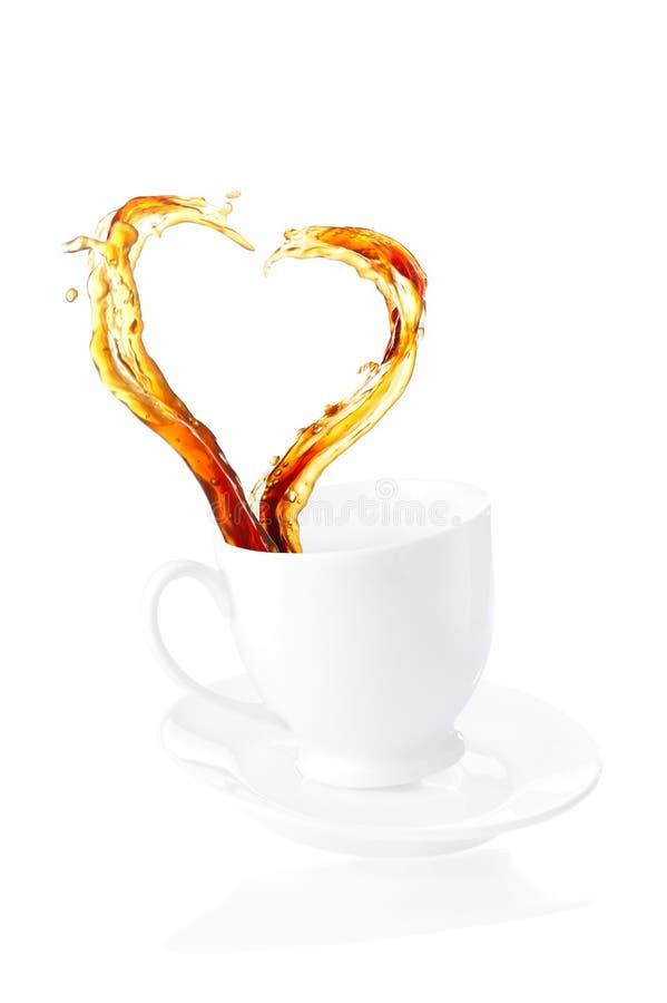färgstänk för kaffekopp royaltyfri fotografi