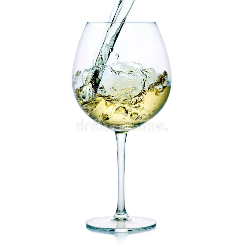 Färgstänk för vitt vin arkivbilder