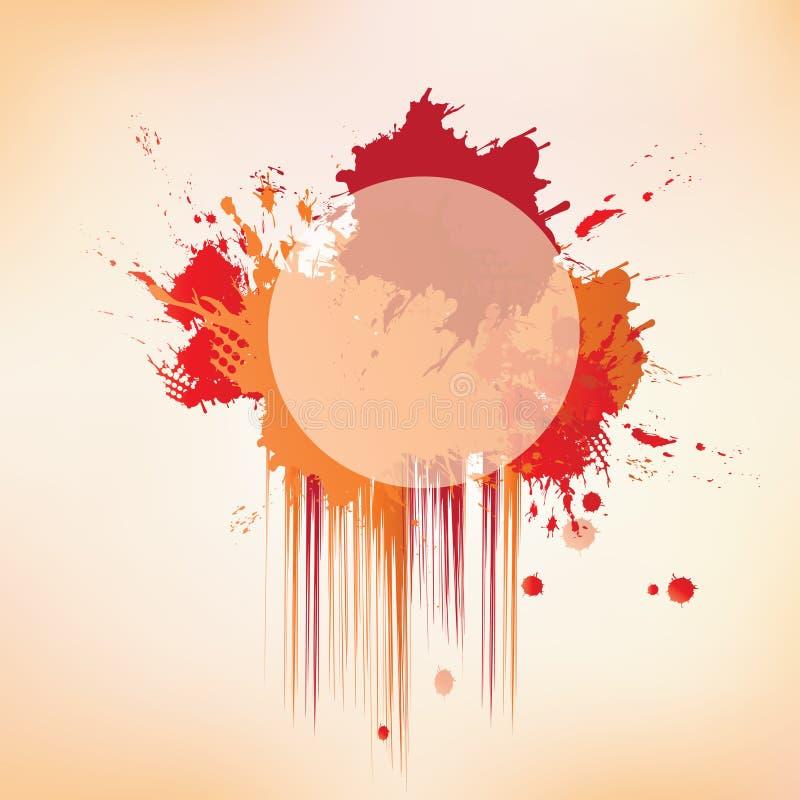 Färgstänk på abstrakt bakgrund vektor illustrationer