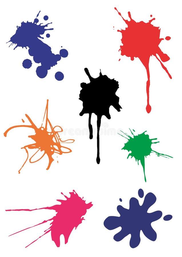 färgstänk spots vektorn stock illustrationer